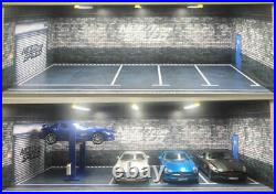 ########### 1/18 5 SPACE CARPARK Need for speed LED LIGHTS THEMED DISPLAY CASE##