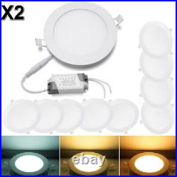 20 PCS 9W 12W 15W 18W 24W LED Recessed Ceiling Panel Down Lights Lamp Fixtures