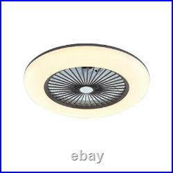22'' Modern Acrylic Bladeless Chandelier Invisible LED Ceiling Fan Light Remote