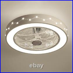 22in Constellation Flush Mount Ceiling Fan withDimmable LED Light +Remote Control