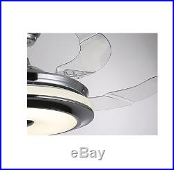 36/42 Invisible Ceiling Fan Lamp Remote Control Dimmable LED Chandelier Light