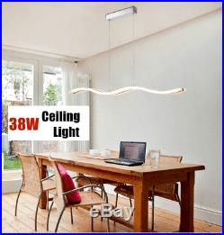 38W Modern Wave LED Ceiling Light Acrylic Living Room Pendant Chandeliers