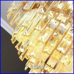 42 Luxury Remote Control Invisible Crystal Ceiling Fan Lamp Home LED Chandelier
