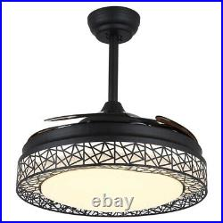 42 Retractable Ceiling Fan Light With Remote For Bedroom Farmhouse Dining Room