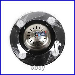42 Silver Crystal Ceiling Fan Light LED Chandelier With Retractable Blades Remote