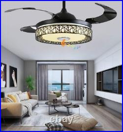 42Bluetooth Music Ceiling Fan Ceiling Light 7-Color Music Player Chandelier