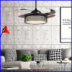 42Ceiling Fan 4 Blades LED Ceiling Fan Light Remote Control 3 changing color