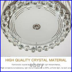 42Chandelier Ceiling Fan Light Invisible Blade Crystal LED With Remote Control
