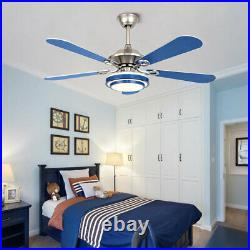52 Acrylic Ceiling Fan Light LED Chandelier 5 Invisible Blade Remote Control
