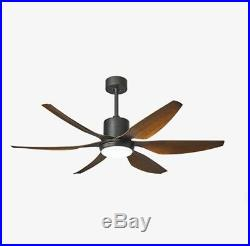 56 Modern Ceiling Fan Light with Remote Control Dimmable Reversible 6 ABS Blades