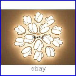 Acrylic Ceiling Light Modern LED Tulip Shade Chandeliers Home Lights Fixtures