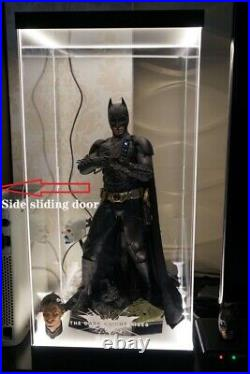 Acrylic Display Box For Hot Toys HT 1/4 Batman Action Figure withLED Fast shipping