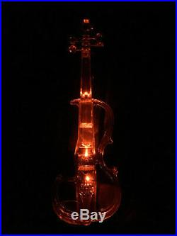 Acrylic Plexiglass Electronic Violin Seven-color LED Lights with White Bow