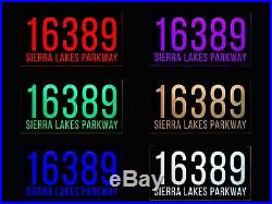 Auto On/Off LED Light Address Plaque Address Sign House Numbers House sign 12VDC