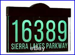 Auto On/Off LED Light Address Plaque Sign, House Numbers Sign, 12-16V AC Version