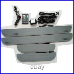 AutoPan Custom 8 Colors Switch Remote LED Door Sill Scuff Plate Light For Chevy