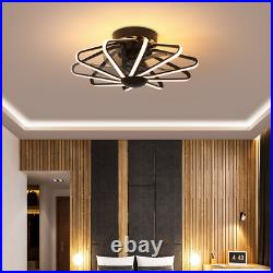 Ceiling Fan With Light kit Remote Control LED Lamp Modern Light Black 2020 Type