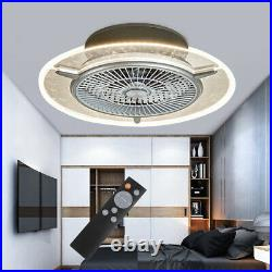Ceiling Fan With Light kit and Remote Control LED Transparent Lamp Dimmable USA