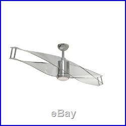 Craftmade Illusion 56 Ceiling Fan withBlades, Polished Nickel, Clear Acrylic