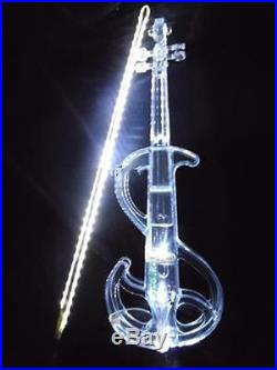 Crystal Acrylic Violin White S Led Electronic Violin Electro-acoustic Violin 4/4