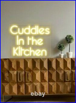 Cuddles In The Kitchen Custom LED Acrylic Neon Sign UK