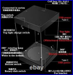 Customized 15.5 LED Acrylic Display Case for Hot Toys 1/6 figure withTurnplate