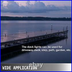 Driveway Lights Solar Dock Lights 24-Pack, LED Pathway Lights with Switch in White