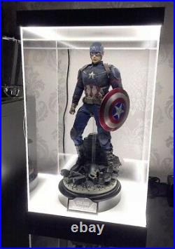 Dual LED Acrylic Dismountable Display Case For Hot Toys 1/6 Figures Preorder
