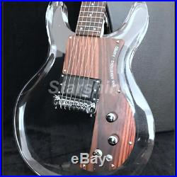 Electric Guitar Y-ZX3 Dan Armstrong Acrylic Body Blue LED Light Rosewood Guitar