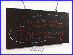 Eyebrow Threading, High Quality LED Sign, Store Sign, Business sign, window Sign