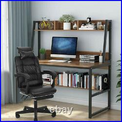 Gaming Chair Reclining Racing Chair High Back with Footrest Leather Office Home