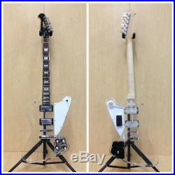 Haze Clear Acrylic See-Thru Firebird Style Electric Guitar withLED Lights+Free Bag