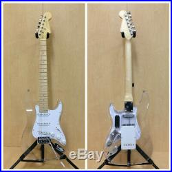 Haze Clear Acrylic See-Thru SC Electric Guitar, LED Lights on Body, Neck+Free Bag
