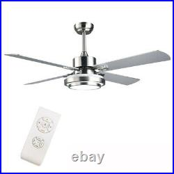 Indoor Contemporary Ceiling Fan With5 Blades LED Light Kit Remote Control 52 INCH