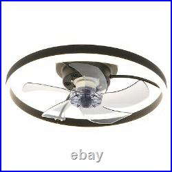 Invisible Acrylic Ceiling Fan Lamp LED Light Dimmable Remote Control Chandelier