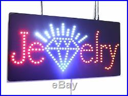 Jewelry Sign, Super Bright High Quality LED Open Sign, Store Sign, Business Sign