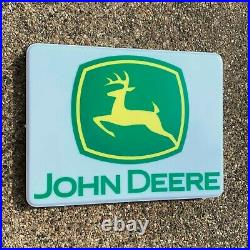 John Deere Tractor Illuminated Led Light Box Wall Garage Sign Agricultural 6930