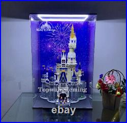 LED Display Case For LEGO 71040 The Disney Castle with Theme Background & Mirror