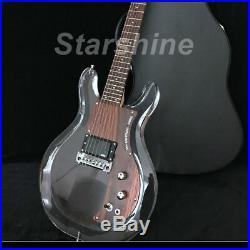 LED Light Electric Guitar Y-ZX3 Dan Armstrong Acrylic Body EMG Pickups