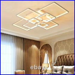 LED Pendant Light Dimmable Ceiling Hanging Lamp Modern Chandeliers Living Room S