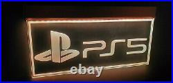 Large PlayStation 5 LED Sign Neon Light Color Changing GAME ROOM PS5 NINTENDO