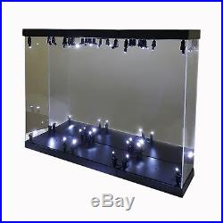 MB-3 Acrylic Display Case LED Light Box for three 12 1/6 Scale Avengers Figure