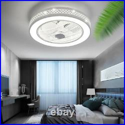 Modern Acrylic Bladeless Chandelier Invisible Ceiling Fan+64W LED Light withRemote