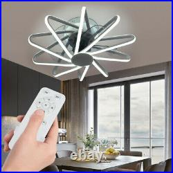Modern Ceiling Fan Light Remote Control LED Lamp Dimmable Chandelier for Bedroom