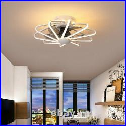 Modern Ceiling Fan With Light Remote Control LED Lamp Warm White Ceiling Light O