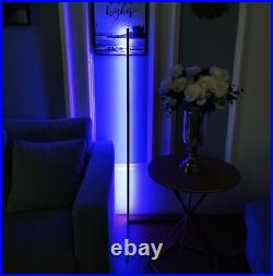 Modern Corner LED Floor Lamp Color Changing & Dimmable Black minimalistic
