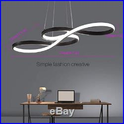 Modern LED Chandelier Dimmable Remote Control Pendant Lights Dining Room White