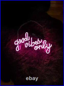 NEON SIGN (Good Vibes Only) BRIGHT, ACRYLIC