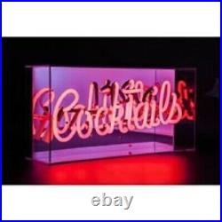 Neon LED Light Up Sign Cocktails Acrylic Light Box Bar Sign RED Neon
