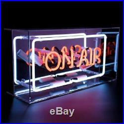 Neon LED Light Up Sign ON AIR Acrylic Light Box Bar Sign red Neon